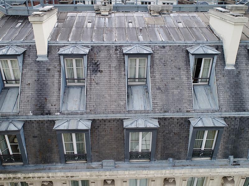 Inspection de couvertures et de façades par drone